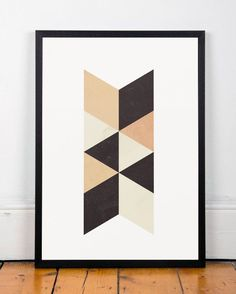 Minimalist art, Geometric print, Scandinavian print, Nordic design, Wall print, Abstract poster, Triangles print, Home art, A3 poster, Art