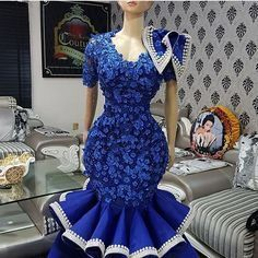 Look at this Trendy modern african fashion African Fashion Ankara, African Fashion Designers, Latest African Fashion Dresses, African Print Fashion, Africa Fashion, African Lace Styles, African Lace Dresses, African Wedding Dress, Lace Dress Styles