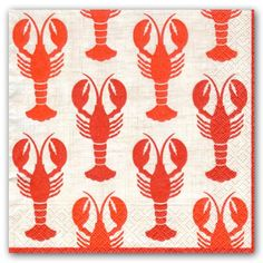 Lobsters Luncheon Napkins paperstyle.com