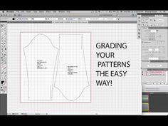 That's all the Spanish I know but anyways in this tutorial I will be showing you my SECOND METHOD of how to grade a sewing block in Illustrator! Pdf Sewing Patterns, Sewing Tutorials, Clothing Patterns, Sewing Projects, Sewing Ideas, Pattern Grading, Sewing Courses, Corset Pattern, Learn A New Skill
