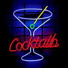 """Brand New Cocktails Party Glass Beer Bar Neon Light Sign 16""""x15"""" [High Quality]"""