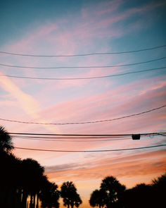 Sherbet colored skies