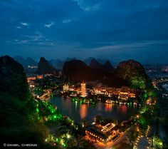 Wandering the city of Guilin in China at night is one of my best memories from that trip. All of the lights throughout the city and along the hills makes for such a festive atmosphere.