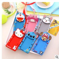Kawaii Cartoon Animals Neck Hanging Silicone Card Cover Bus Bank Id Card Case Holder #>=#>=#>=#>=#> Click on the pin to check out discount price, color, size, shipping, etc. Save and like it!