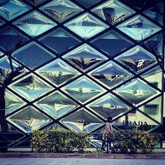 Prada - Tokyo Retail Space, Textures Patterns, Tokyo, Louvre, Exterior, Building, Places, Instagram Posts, Photography