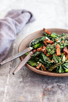 Spinach, Bacon, Vegetables, Ethnic Recipes, Foods, Recipes, Food Food, Veggies, Vegetable Recipes