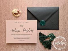 Invitatie nunta Minimal Leaf