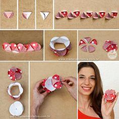 Como fazer esfera de papel - Dicas e passo a passo com fotos - PAP - DIY Tutorial - How to make paper balls- Madame Criativa - www.madamecriativa.com.br