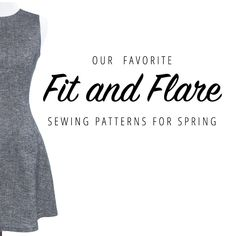 Fit and flare dresses are a must-have for every spring wardrobe. Check out our favorite fit and flare sewing patterns in the Indiesew shop! | Indiesew.com