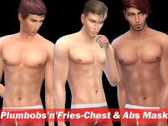 Sims 4 CC's - The Best: Skin for Men by Plumbobs n Fries