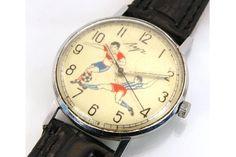 Vintage Poljot Russian Football Watch: http://www.ebay.com/itm/vintage-Russian-Watch-LUCH-POLJOT-EXTRA-SLIM-SPORT-/190484298671?pt=Wristwatches&hash=item2c59bfbbaf
