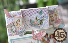 of photos & paper: Sweet Sentiments Tri-Shutter Card & Tutorial Fancy Fold Cards, Folded Cards, Pinterest Cards, Stamping Up Cards, Card Tutorials, Graphic 45, Creative Cards, Shutter, Diy And Crafts