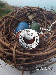 Hand-stamped Unbroken necklace