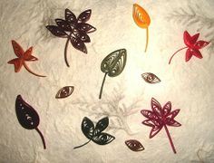 quilled leaves | These quilled fall leaves can be used in a variety of projects.