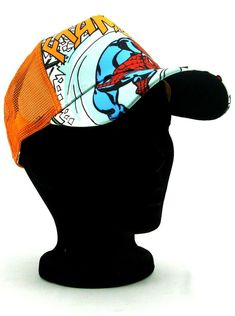 682b89e03 (eBay link) New Era Amazing Spider-Man Adjustable Hat Marvel Comics Heroes  Orange