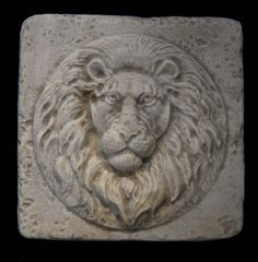 Small Roman Lion Wall Relief plaque Tile, Tiles and Moldings, Architectural