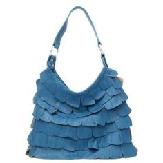 Ruffled handbags designer inspired Purses layered bags Teal