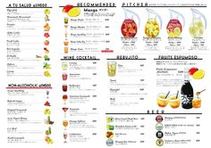 ドリンクメニュー | RIGOLETTO WINE AND BAR Drink Menu Design, Juice Bar Design, Restaurant Menu Design, Food Design, Juice Bar Menu, Digital Menu, Menu Layout, Around The World Food, Menu Book
