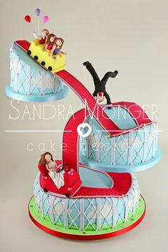 Roller Coaster Cake - Bring the fun of an amusement park to your party with a sheet cake decorated to look like a roller coaster ride! Description from pinterest.com. I searched for this on bing.com/images