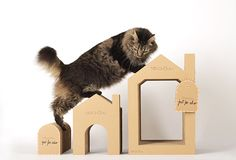 Introducing Nekohomu, a new line of handcrafted cardboard cat houses from Spain. These elegant structures will provide your cat with all kinds of scratching, climbing and napping fun! The collection makes efficient use of the materials since each piece nests inside the other. I love it when companies use materials wisely, reducing waste as much as…