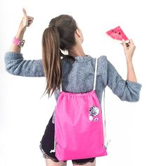 Waterproof Pink Gym Bag  #gymbag #backpack #pink #fluo