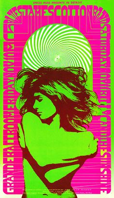 1967 MC5 Poster - Pieces Eyes by Carl Lundgren