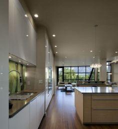 Cucina di lusso moderna illuminazione di design