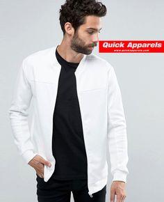 http://www.quickapparels.com/polyester-elastane-bomber-jacket-in-white.html