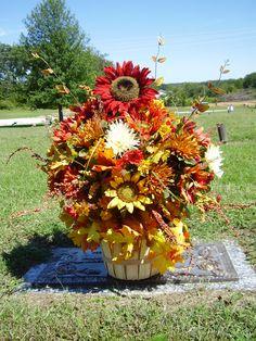 A fall flower arrangement for Shealynn.