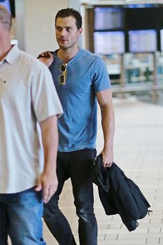 """ Jamie Dornan spotted at Vancouver Airport on June 30 (x) """