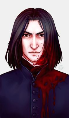 Snape ~ by Oxcenia on DeviantArt Severus Snape Death, Harry Potter Severus Snape, Severus Rogue, Slytherin Harry Potter, Harry Potter Anime, Harry Potter Facts, Harry Potter Characters, Draco Malfoy, Hermione Granger