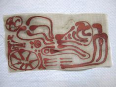 Etching copper fabric (??!) with batik. Wow, what would you do with this?