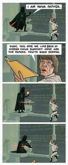 Star Wars Memes | missed child support