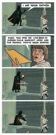 Star Wars Meme, Star Wars Facts, Star Wars Comics, Darth Vader Death, Funny Images, Funny Pictures, Star Wars Images, Lol, Luke Skywalker