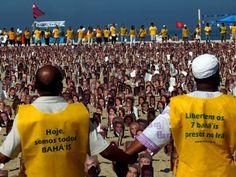 Im Juni 2011 demonstrierten Anhänger der Bahà'ì-Religion in Rio de Janeiro für die Freilassung von sieben inhaftierten Glaubensbrüdern im Ir...