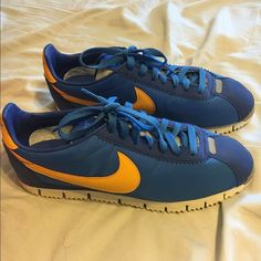 new style b23f1 4adea Mens size 10 Nike Cortez royal Blue ampYellow Mens size 10 Nike Cortez  royal