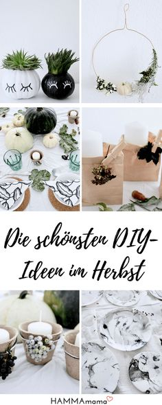 Ideen für DIY Herbst Deko: Dekoration aus der Natur für den Tisch oder die Kinder selber machen