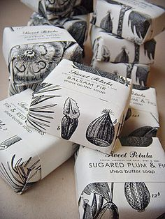 Lovely soaps, beautiful packaging