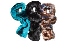 Henri Bendel faux fur scarves.