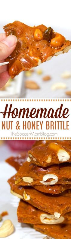 Melt in your mouth homemade nut & honey candy is the perfect combination of sweet & salty! #ad #SimplyGood #candy #recipes