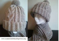 Knit a unisex adult hat - One ball and two needles Knitting Club, Double Knitting, Loom Knitting, Free Knitting, Crochet Poncho, Crochet Baby, How To Make Scarf, Cowl Scarf, Chunky Yarn