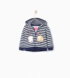 ZARA - ENFANTS - Sweat rayé à capuche