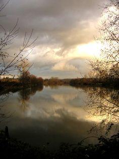 Snohomish river at Lowell, Washington