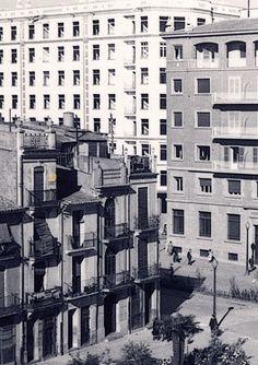 Avinguda Rei En Jaume. En construcció l'edifici de l'Hort dels Corders.