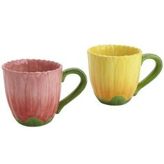Whimsical daisy mugs from Pier One