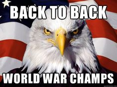 back to back world war champs - One-up America