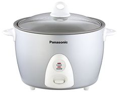 Panasonic SRG18FGL Auto Rice Cooker with Steaming Basket Silver -- For more information, visit image link. (This is an affiliate link)
