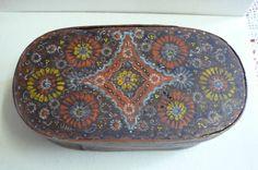 Antike Spanschachtel aus Berchtesgaden Bemalt um 1880 | eBay Saddle Bags, Ebay, Antiquities