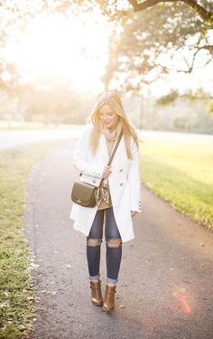 White Coat for Fall – Living In Color Print