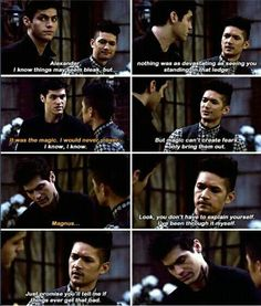 THIS. IS. THE. MOST. IMPORTANT. THING. I was sooo afraid that they would just forget about Alec standing on the ledge but thank god they didn't. As a person who has been suicidal and is still battling with depression and other stuff, I really, deeply, love this particular scene and am so happy and glad it happened.   And on another note, if you, yourself feel like doing something to yourself, speak to someone or call a suicide prevention hotline or smth like that. You're not alone.   #Malec…